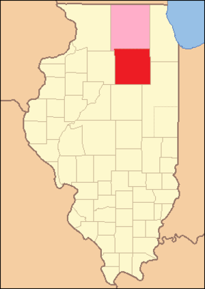 LaSalle County, Illinois - Image: La Salle County Illinois 1831
