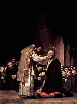 La última comunión de san José de Calasanz, Francisco de Goya