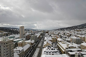 La Chaux-de-Fonds - City of La Chaux-de-Fonds in winter