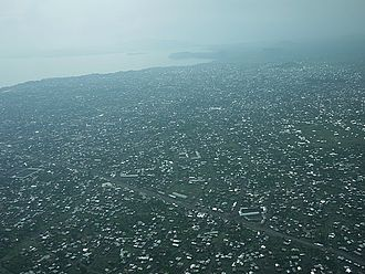 Goma - Aerial view of Goma in October 2010