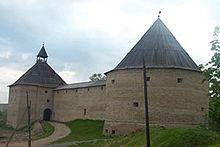 Fæstningen ladoga blev bygget i sten i det 12. århundrede og