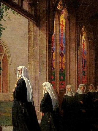 Marmion (poem) - Detail of the painting Lady Clara de Clare, inspired by original poem Marmion (William D. Washington).