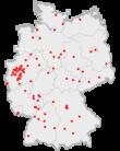 Разположението на големите градове в Германия