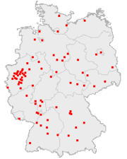 Største tyske byers beliggenhed