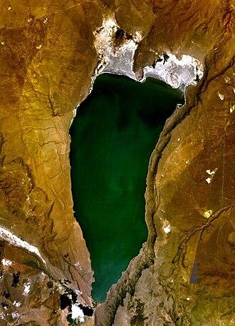 Lake Abert - Lake Abert seen from space
