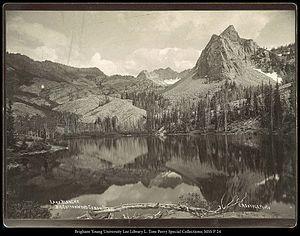 Big Cottonwood Canyon - Lake Blanche in Big Cottonwood Canyon, c. 1869