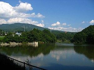 Shiojiri, Nagano - Lake Midoriko near Shiojiri Pass