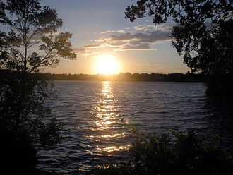 Lake Menomin - Sunset view of Lake Menomin from Evergreen Cemetery