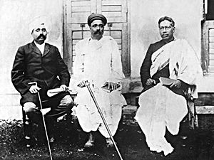 Bal Gangadhar Tilak - Lala Lajpat Rai, Bal Gangadhar Tilak, Bipin Chandra Pal together popularly known as Lal-Bal-Pal triumvirate
