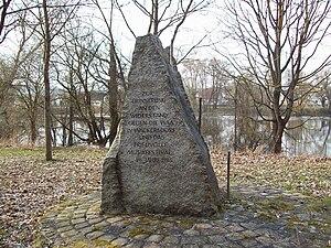 Burglengenfeld - Anti-WAAhnsinns-Festival memorial stone in Burglengenfeld