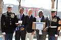 Larry and Kirk Elder accept Congressional Gold Medal on behalf of Staff Sgt. Randolph Elder.jpg
