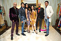 Launch of men's wear 'Pegasus' 02 Rajiv Laxman, Karnvir Bohra, Teejay Sidhu, Amy Billimoria, Raghu Ram, Farzaad Billimoria.jpg