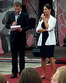 Laura Samojłowicz with MC at Meeting of Fans of the TV series 'M jak miłość' in Gdynia 2009 - 3.jpg
