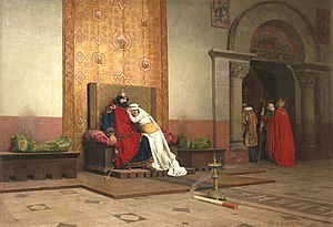 Robert II of France - The Excommunication of Robert the Pious by Jean-Paul Laurens (1875)