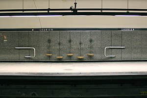 Laurier station (Montreal Metro) - Image: Laurier Metro 2011