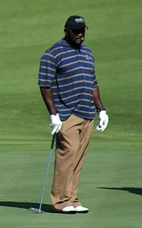 Taylor on the golf course in 2007.