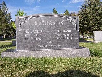 LeGrand Richards - Grave marker of LeGrand Richards.