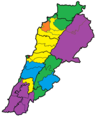 Lebanese electorate (largest community per minor district and-or qada), based on 2017 data.png