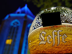 Glass of Leffe, a Belgian beer