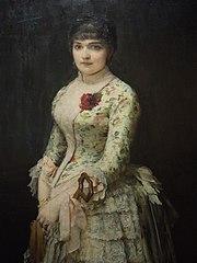 Portret kobiety z różą