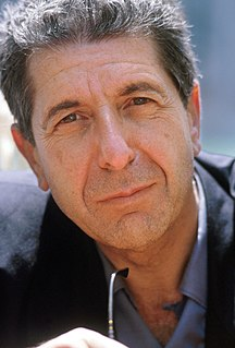Leonard Cohen Canadian poet and singer-songwriter
