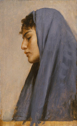Leopold Carl Müller - Profile Head of a Young Woman - Walters 371012.jpg