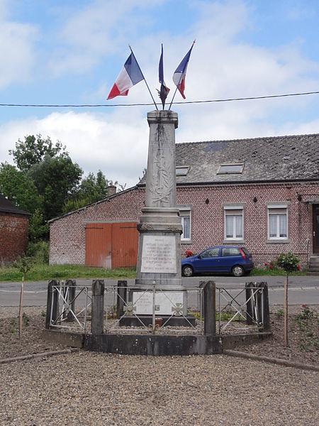 Lerzy (Aisne) monument aux morts