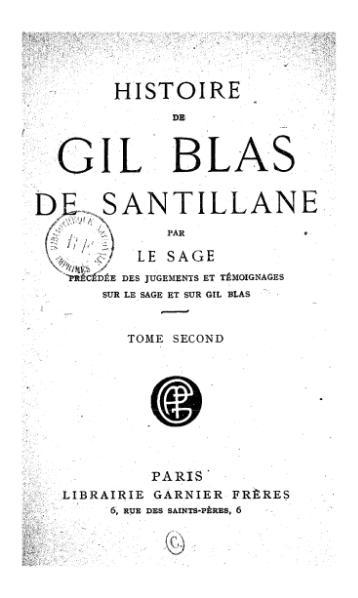 File:Lesage - Histoire de Gil Blas de Santillane, 1920, tome 2.djvu