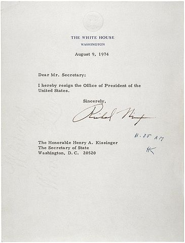 File:Letter of Resignation of Richard M. Nixon, 1974.jpg - Wikipedia