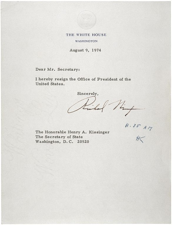 file letter of resignation of richard m nixon jpg  file letter of resignation of richard m nixon 1974 jpg