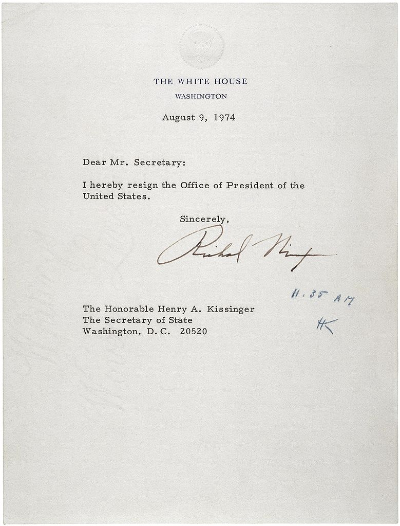 File:Letter of Resignation of Richard M. Nixon, 1974.jpg ...