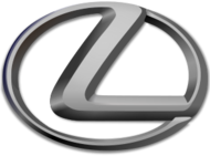 Circle-shaped logo with the letter 'L', above the word 'Lexus'.