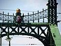 Liberty Bridge, Crown and CoA, 2013 Budapest (413) (13227272105).jpg