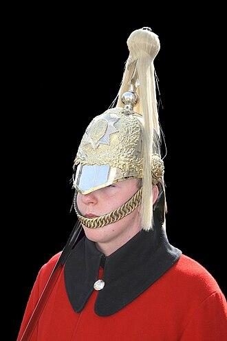 Life Guards (United Kingdom) - Image: Life guard (buste) Whitehall
