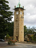 Lindley Clock Tower The tower was commissioned in 1901 by James Nield Sykes and designed by Middleton born architect Edgar Wood. http://www.myhuddersfield.com/places/Lindley/