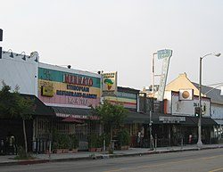 Businesses along Fairfax Avenue in Little Ethiopia