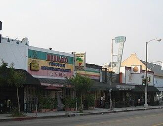 Little Ethiopia, Los Angeles - Businesses along Fairfax Avenue in Little Ethiopia