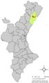 Localització de Benlloch respecte del País Valencià.png