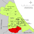 Localització de Vilallonga respecte de la Safor.png