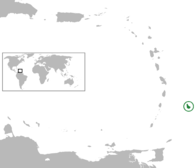A map showing the location of Barbados