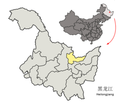 Location of Hegang City in Heilongjiang