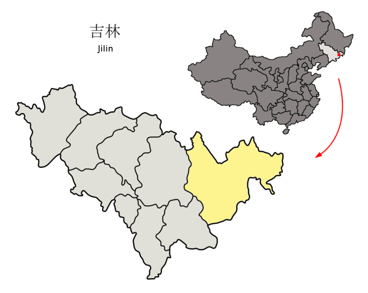 Fichier:Location of Yanbian Prefecture within Jilin (China).png