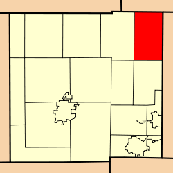 Location of Auburn Township in Crawford County.