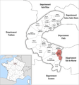 Locator map of Kanton Bagneux.png