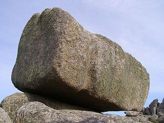 Logan Rock - Close-up of the Logan Rock near Treen