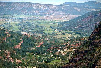 Log Hill Mesa - Log Hill Mesa viewed from San Juan Mountains