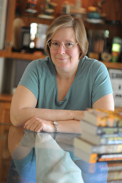 Lois McMaster Bujold, American author