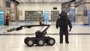 Lok Ma Chau Station simulating a bomb plot EOD and the robot 20200319.png