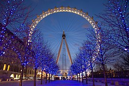 London Eye in de schemering