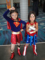 Long Beach Comic Expo 2011 - Little Supergirl and Wonder Woman (5648076391).jpg